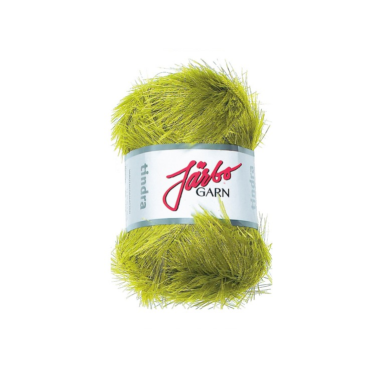 Järbo garn pälsgarn Tindra grön 61227