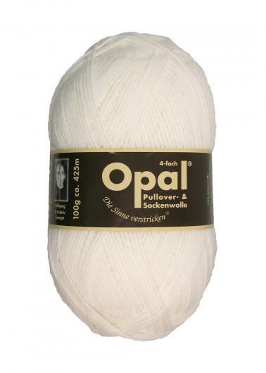 Garn Opal enfärgad Opal blekt vit