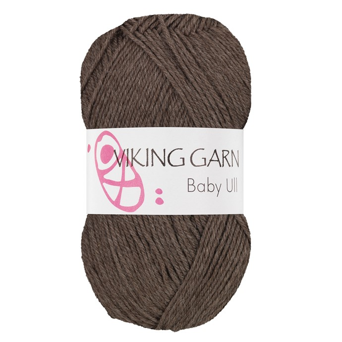 Viking Baby ull färg nr 308 brun