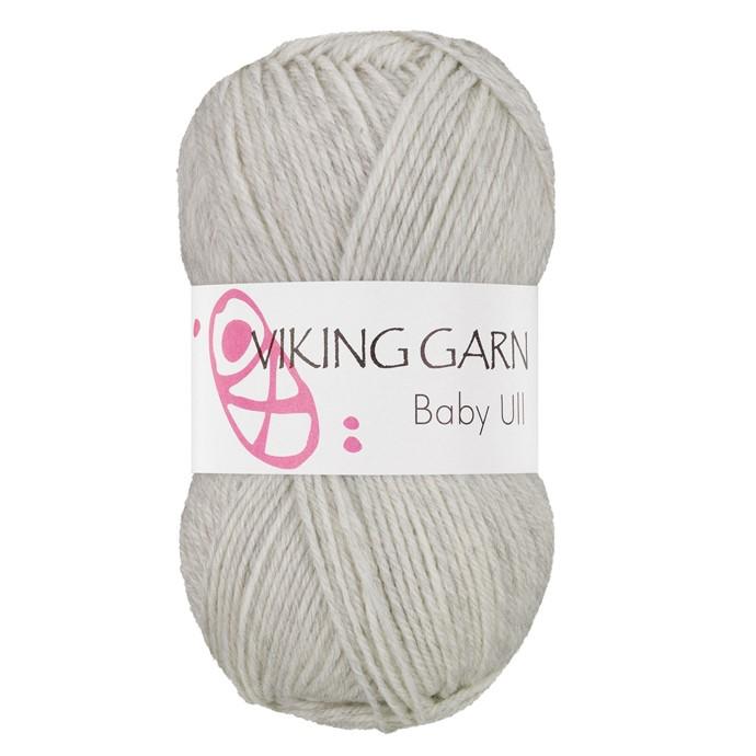 Viking Baby ull färg nr 312 ljus grå