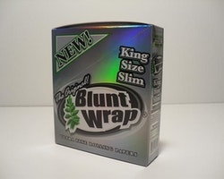 Bluntwrap Kingsize Slims Silver DISPLAY (cigarettpapper)