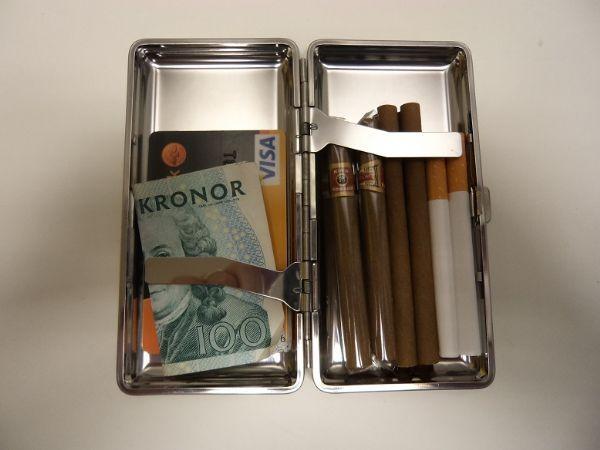 Cigarettetui Metall Long Colors