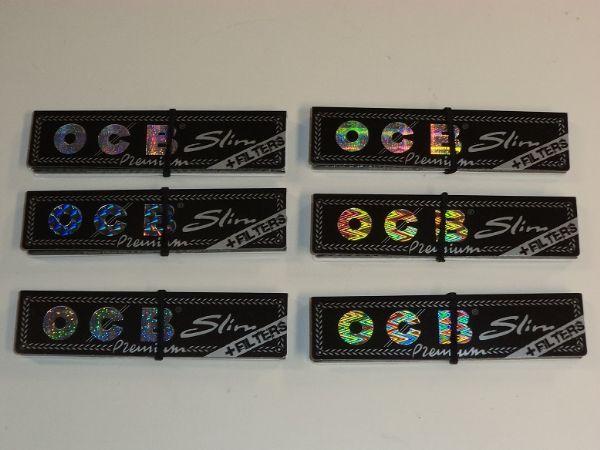 OCB Kingsize Slim+Filter 6 st (cigarettpapper)