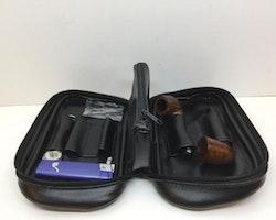 Pipset: Två mini pipor med väska och tillbehör