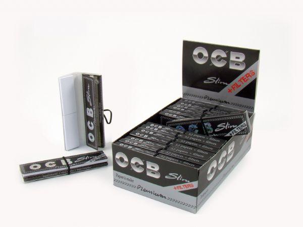 OCB Kingsize Slim+Filter DISPLAY (cigarettpapper)