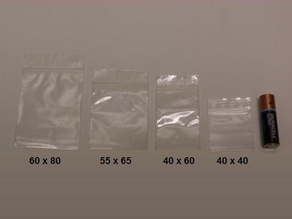 Blixtlåspåsar: 4 buntar X 100 påsar (Zippåsar)