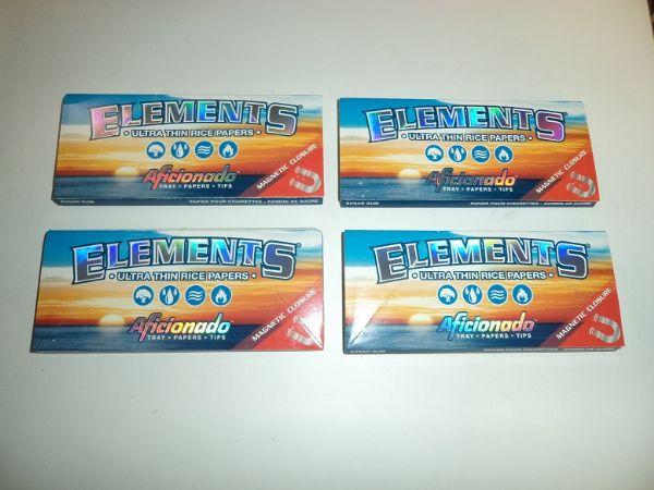 Elements Kingsize Slims+Filter Aficionado 4st (cigarettpapper)