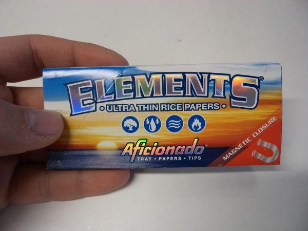Elements Kingsize Slims + Filter Aficionado DISPLAY (cigarettpapper)