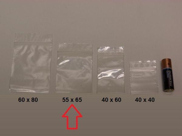 Zipper påsar (300st av 55x65 mm) zip påse