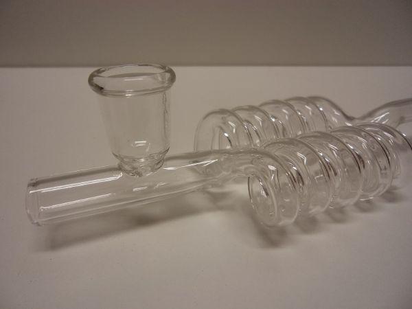 Glaspipa Dubbel Spiral + tillbehör