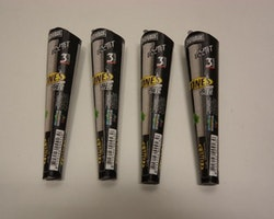 Färdigrullade koniska cigarettpapper (4 förpackningar x 3st)