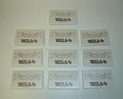 Rizla Vit Mini Dubbel cigarettpapper (10 förpackningar)