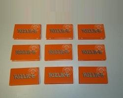 Rizla Orange Mini Dubbel cigarettpapper (9 förpackningar)