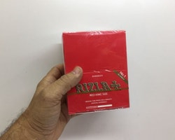 Rizla Röd Kingsize Slim DISPLAY (cigarettpapper)