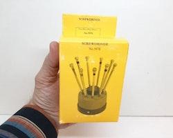 Skruvmejsel set för klocka och urverk (klockverktyg)