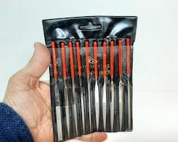 10 stycken nålfilar (Klockverktyg / Urmakeriset)