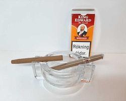 Minicigarr & Cigarrill askkopp / Askfat för två cigarrer