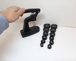 Boettpress + 12st Pressplattor (Klocka/urmakeri verktyg)