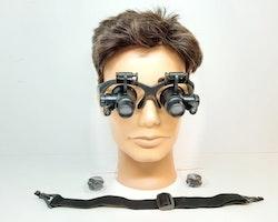 Förstoringsglasögon (10x + 20x) med LED (Klockverktyg)
