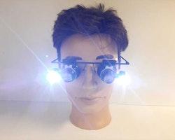Förstoringsglasögon (20x) med LED - Klockverktyg