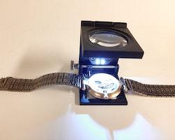 Trådräknare Lupp 10x (Klocka/urmakeri verktyg)