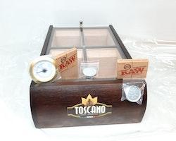 Cigarrhumidor TOSCANO + tillbehör