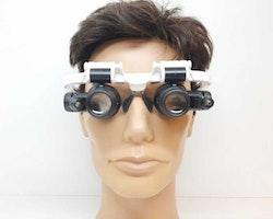 Förstoringsglasögon (8x + 23x) med LED (Klockverktyg)