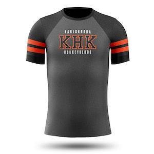 KHK funktions t-shirt, grå/svart