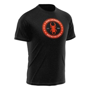 KHK T-shirt, svart -rund logo