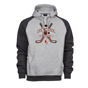 KHK baseball hoodie Sr, grå