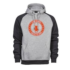 KHK baseball hoodie Sr, grå -rund logo