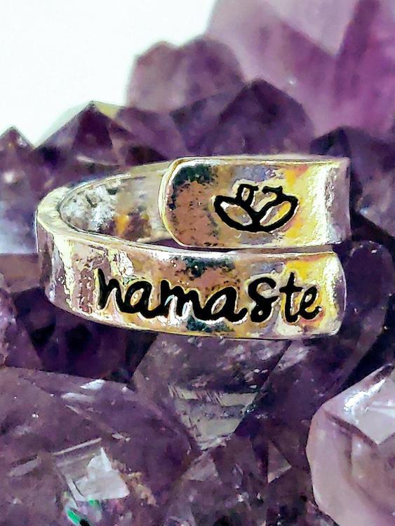 Namaste one size stål ring