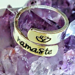 Namaste one size stål ring