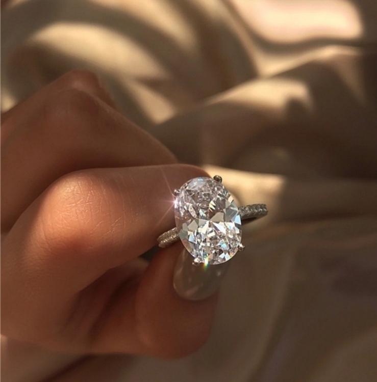 16 mm Silver ring med K9 kristall