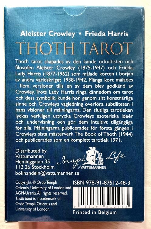 Svensk Aleister Crowley Thoth Tarot