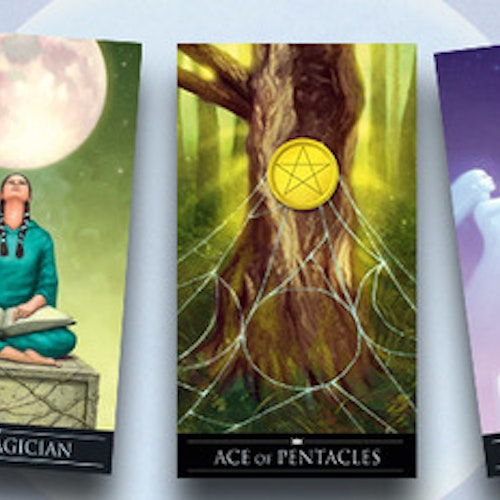 Silver Witchcraft Tarot kit by Barbara Moore