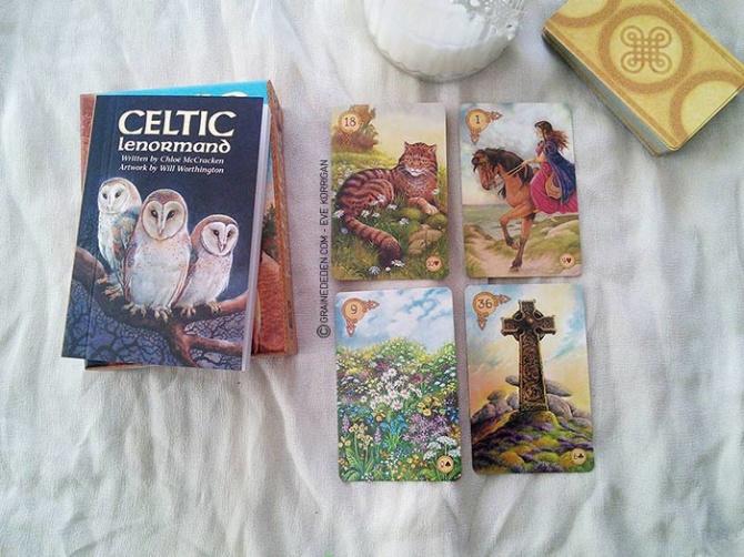 Celtic Lenormand  av Chloe McCracken, Will Worthington