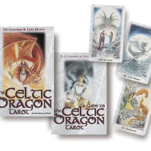 The Celtic Dragon Tarot Kit (With 78 - Cards)  av D. J. Conway, Lisa Hunt