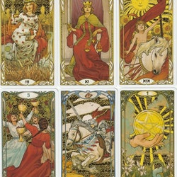 Golden Art Nouveau Tarot Illustrated by Giulia Massaglia