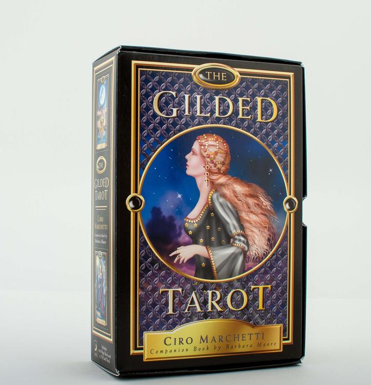 Gilded Tarot deck and guidebook by Ciro Marchetti