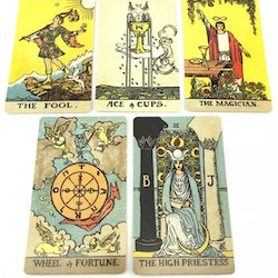 Smith-Waite Tarot Deck Borderless Edition by Arthur Waite