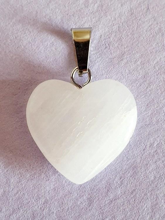 1 st Hänge hjärta i bergskristall