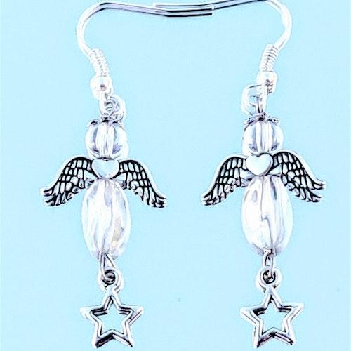 Kristall ängel örhängen