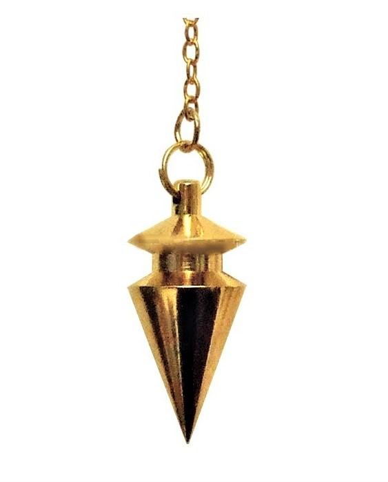Mässingspendel med filigran guld pärla