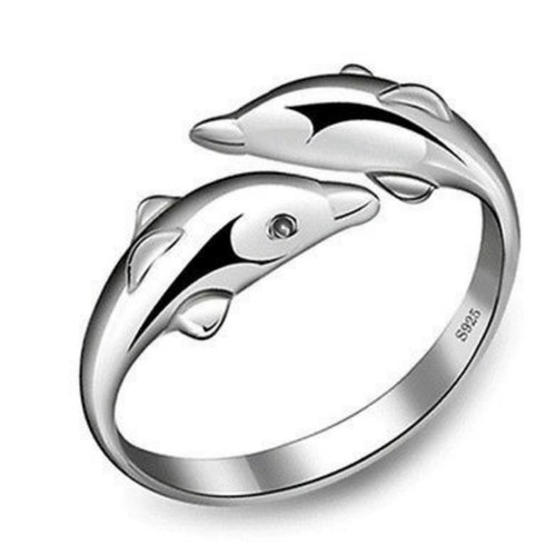 Delfin ring 925 sterling silver