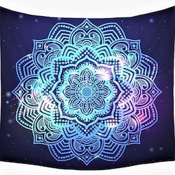 Blå mandala tarot bordsduk väggdekoration