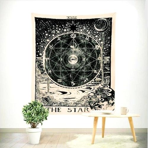 The Star tarot bordsduk väggdekoration