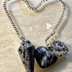 Pendel med hjärta Mörk grå