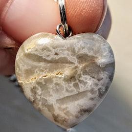 Pendel med hjärta Ljus grå