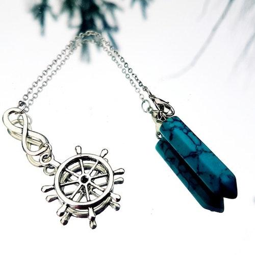 Infinity pendel i turkos med sjömansroder